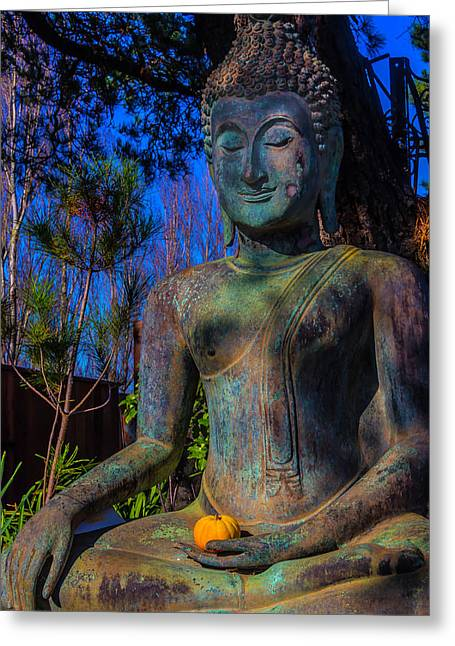 Buddha With Offering  Greeting Card