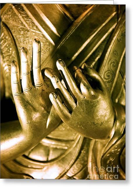 Buddhas Hands Greeting Card