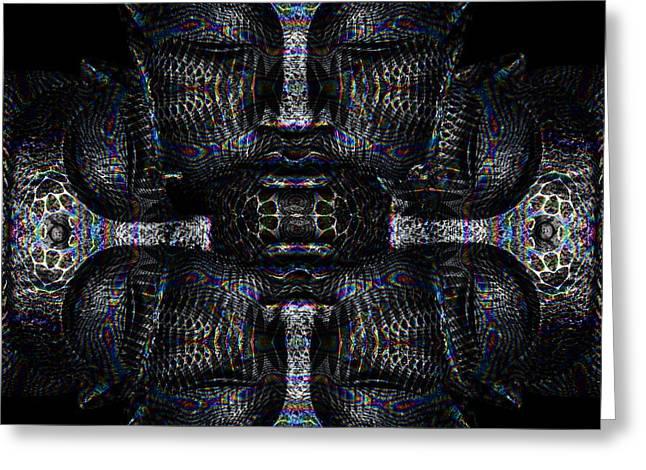 Buddhas Psylence Greeting Card by Shiva Designz