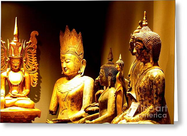 Buddhas Greeting Card by Ranjini Kandasamy