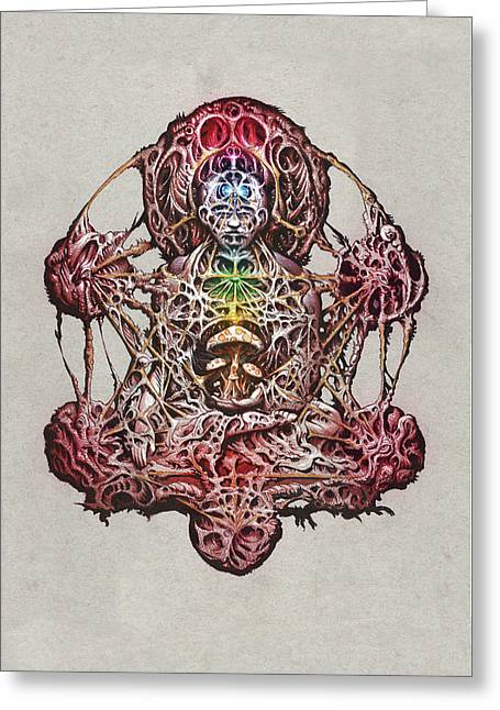 Buddhatron's Cubensis Greeting Card by Will Shanklin