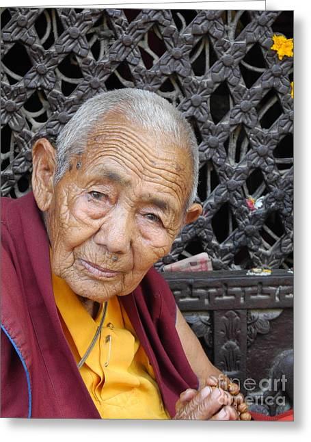 Buddhist Monk Kathmandu Greeting Card
