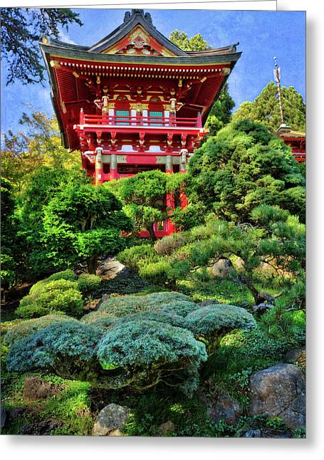 Japanese tea garden greeting cards page 2 of 10 fine art america buddhist pagoda 3 japanese tea garden at golden gate park san francisco greeting m4hsunfo