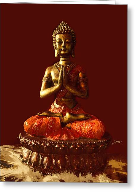 Buddhist Statue  Greeting Card