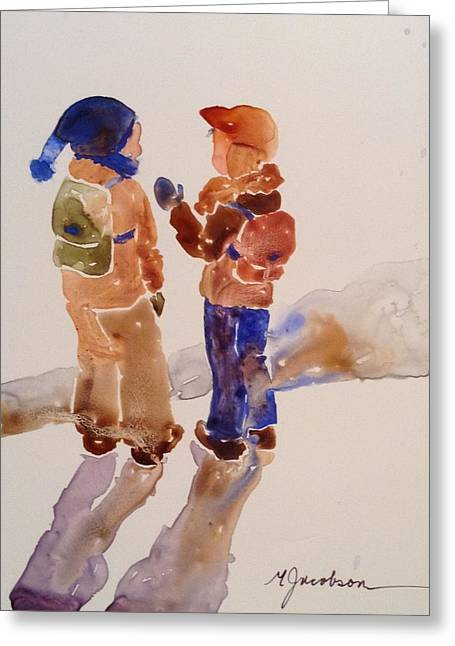 Buddies Greeting Card by Marilyn Jacobson