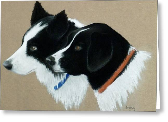 Collie Pastels Greeting Cards - Buddies Greeting Card by Pat Neely