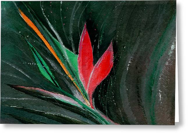 Budding Greeting Card by Anil Nene