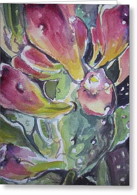 Budding Cactus In Spring IIi Greeting Card by Aleksandra Buha