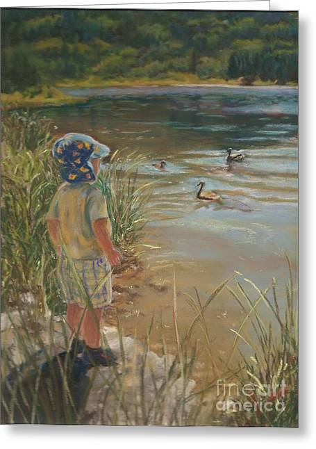 Budding Wildlife Expert Greeting Card by Harriett Masterson