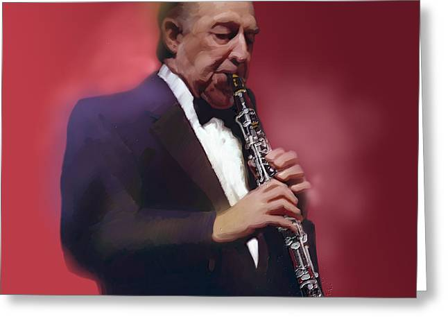 Buddy Defranco Clarinet Greeting Card