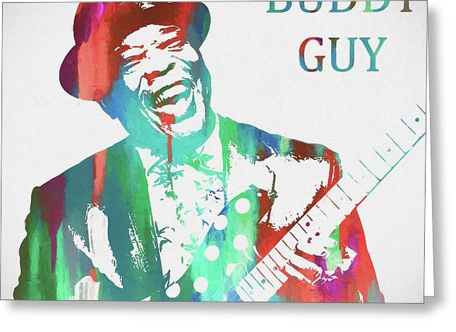 Buddy Guy Watercolor Greeting Card by Dan Sproul