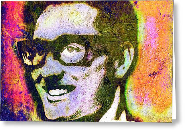 Buddy Holly 2 Greeting Card by Otis Porritt