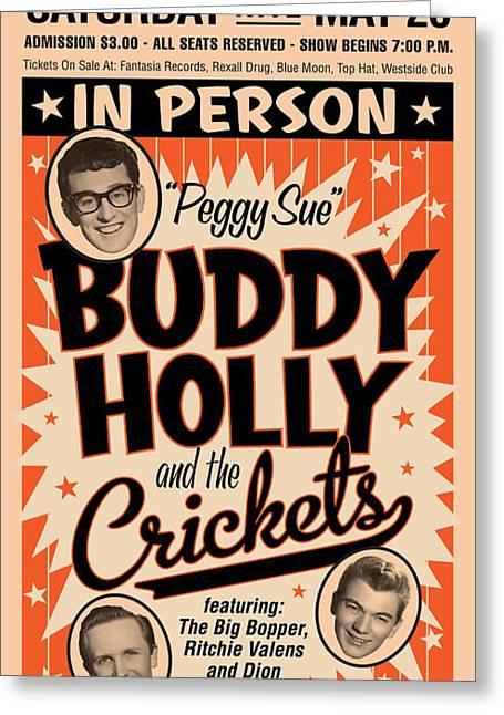 Buddy Holly Greeting Card