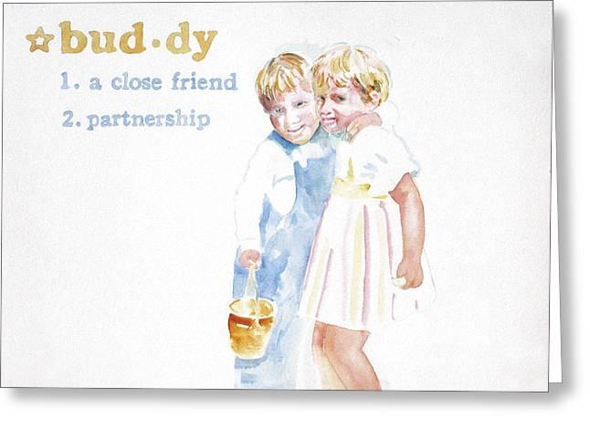 Buddy Greeting Card by Janice Crow