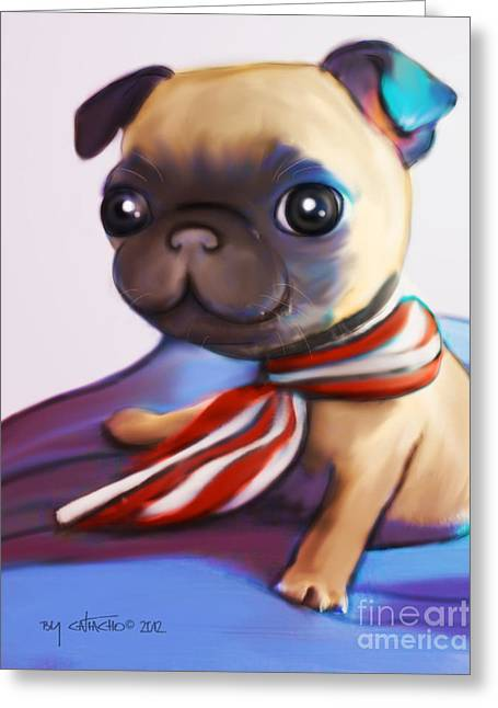 Buddy The Pug Greeting Card