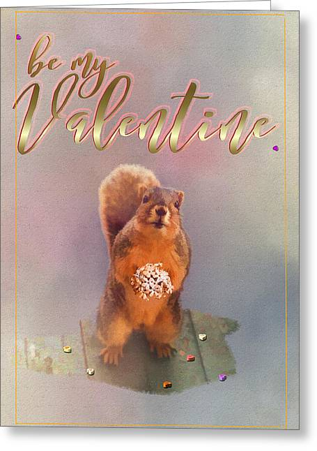 Buddy's Be My Valentine Card Greeting Card by Theresa Campbell