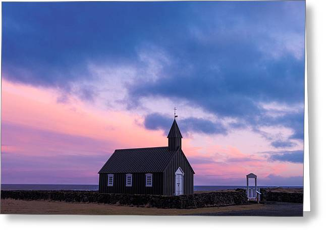 Budir Black Church Greeting Card