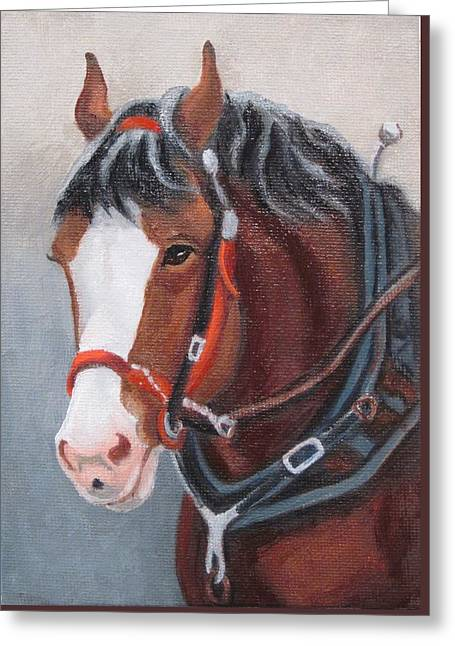 Budweiser Clydesdale Greeting Card by Ruth Soller