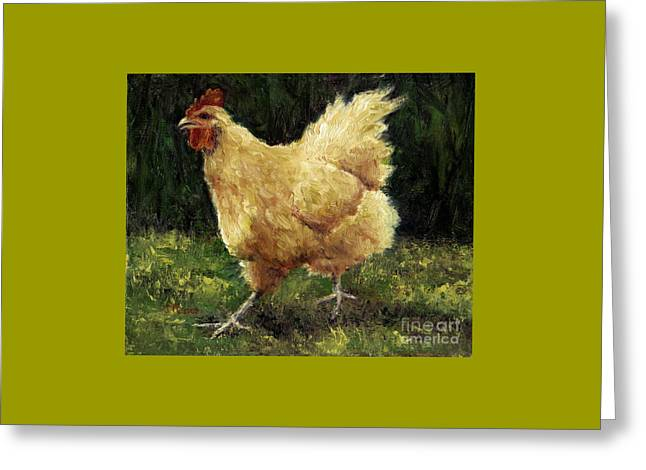 Buff Orpington Chicken Greeting Card by Jill Musser