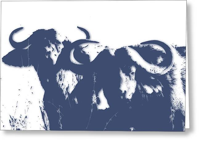 Buffalo 2 Greeting Card by Joe Hamilton