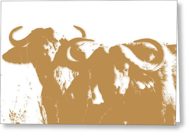 Buffalo 3 Greeting Card by Joe Hamilton