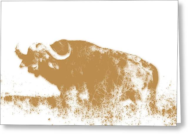 Buffalo 4 Greeting Card by Joe Hamilton
