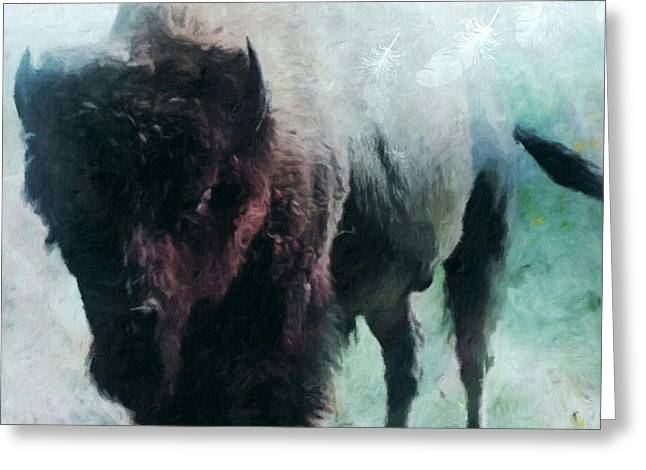 Buffalo American Bison Greeting Card