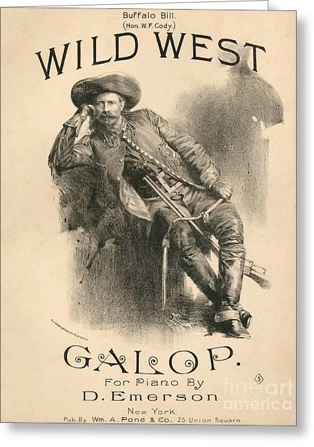 Buffalo Bill Greeting Card by American School