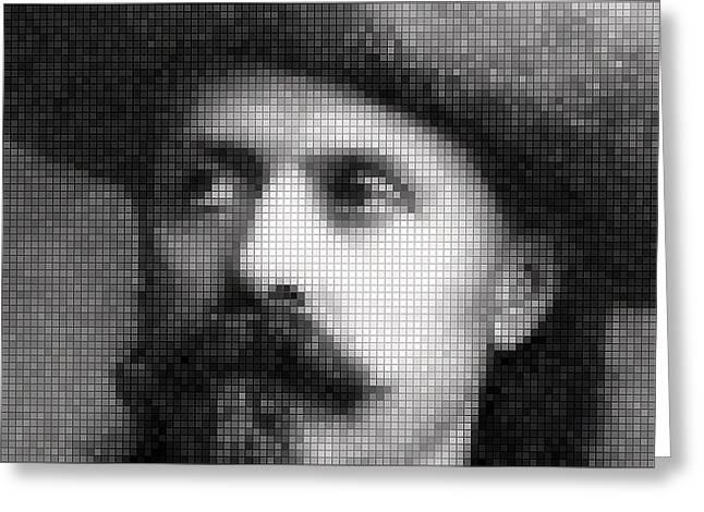 Buffalo Bill Cody Mosaic Greeting Card by Daniel Hagerman