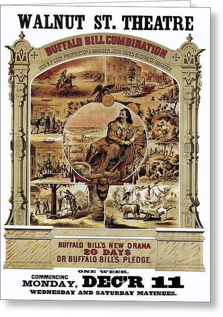 Buffalo Bill Theater Show 1882 Greeting Card by Daniel Hagerman