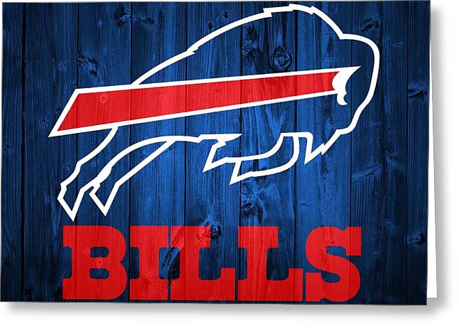 Buffalo Bills Barn Door Greeting Card by Dan Sproul
