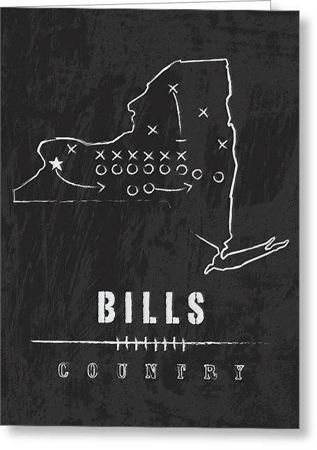 Buffalo Bills / Nfl Football Art / Orchard Park New York Greeting Card