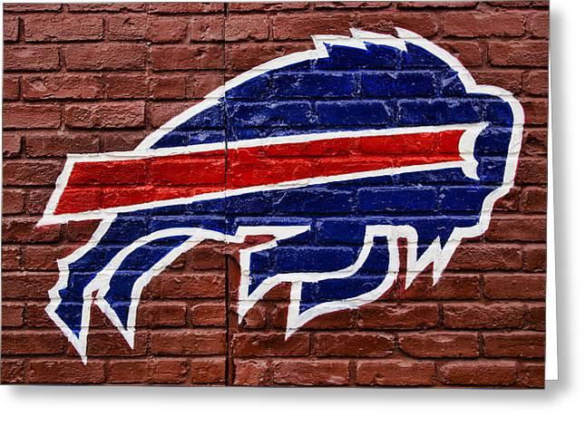 Buffalo Bills Greeting Card by Stephen Stookey