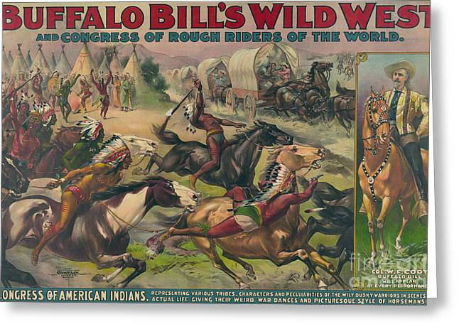 Buffalo Bills Wild West, American Greeting Card by Science Source