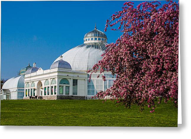 Greeting Card featuring the photograph Buffalo Botanical Gardens North Lawns by Don Nieman