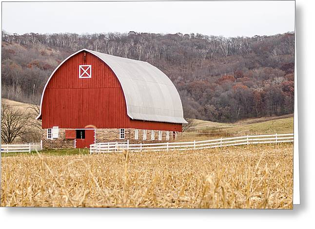 Greeting Card featuring the photograph Buffalo County Barn by Dan Traun