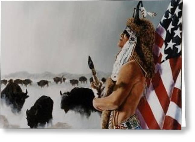 Buffalo Dreamer Greeting Card by Syndi Michael