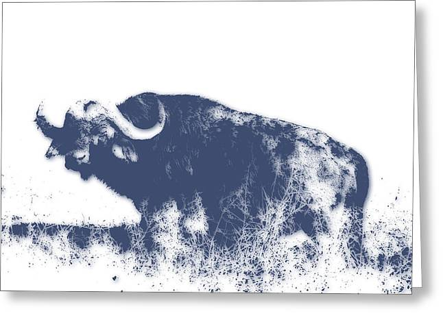 Buffalo Greeting Card by Joe Hamilton