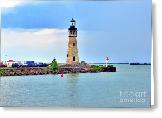 Struckle Greeting Cards - Buffalo Lighthouse Greeting Card by Kathleen Struckle