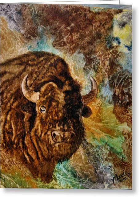 Buffalo Greeting Card by Maris Sherwood