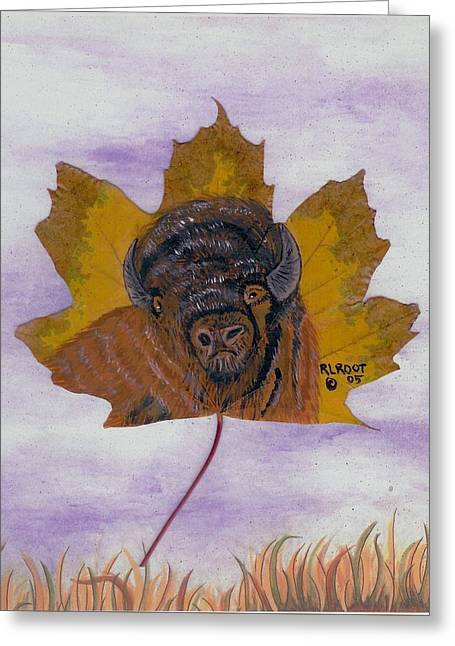 Buffalo Profile Greeting Card