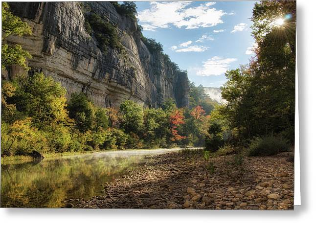 Buffalo River Morning Greeting Card by James Barber