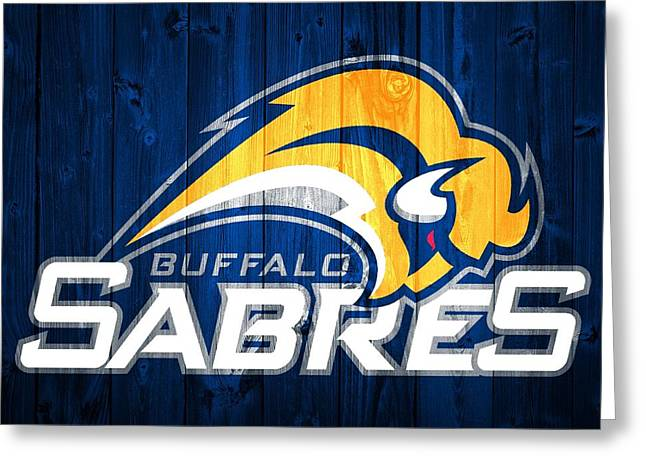 Buffalo Sabres Barn Door Greeting Card