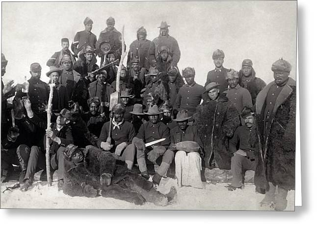 Buffalo Soldiers 1890 Greeting Card by Daniel Hagerman