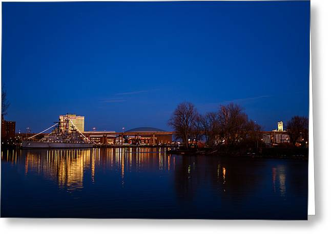 Buffalo Waterfront Twilight Greeting Card
