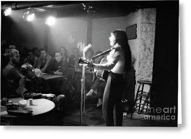 Buffy Sainte-marie At The Gaslight Cafe, 1964 Greeting Card