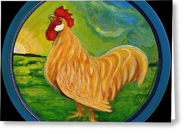 Polscy Malarze Greeting Cards - Buffy the Rooster Greeting Card by Anna Folkartanna Maciejewska-Dyba