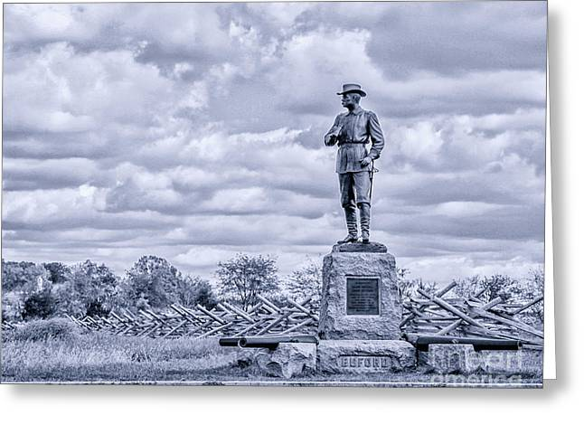 Buford Statue Gettysburg Toned Greeting Card by Randy Steele