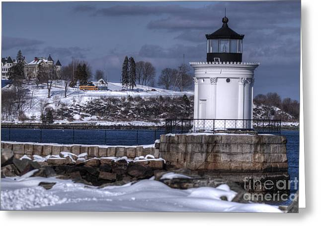 Bug Light In Winter Greeting Card