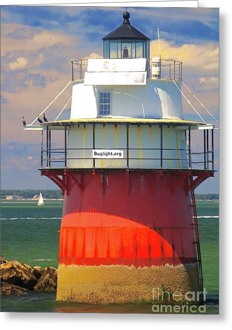 Bug Light Plymouth Greeting Card